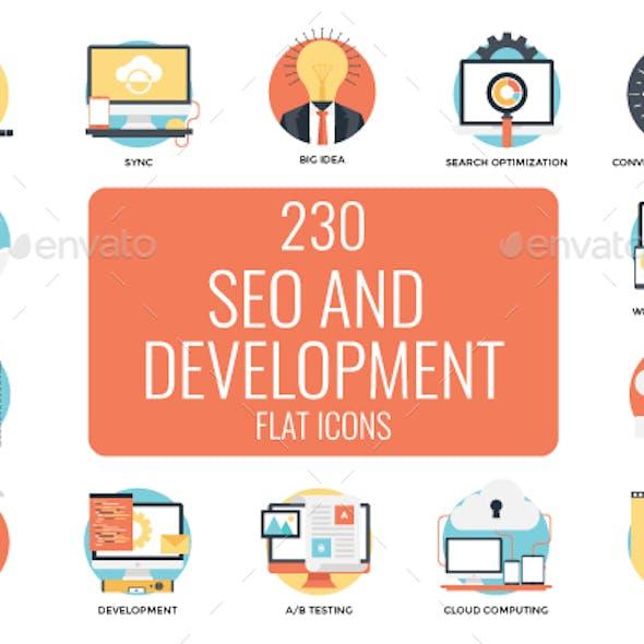 230 Seo and Web Development Icons
