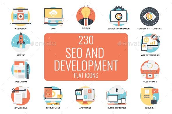 230 Seo and Web Development Icons - Icons
