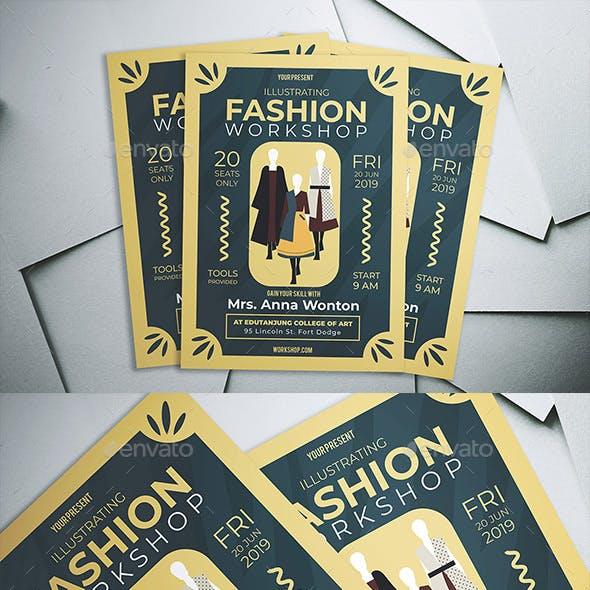 Illustrating Fashion Workshop Flyer