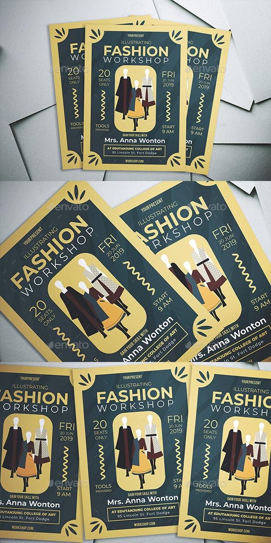 Illustrating Fashion Workshop Flyer - Flyers Print Templates