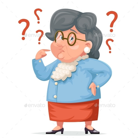 Confused Grandmother Memory Loss - People Characters