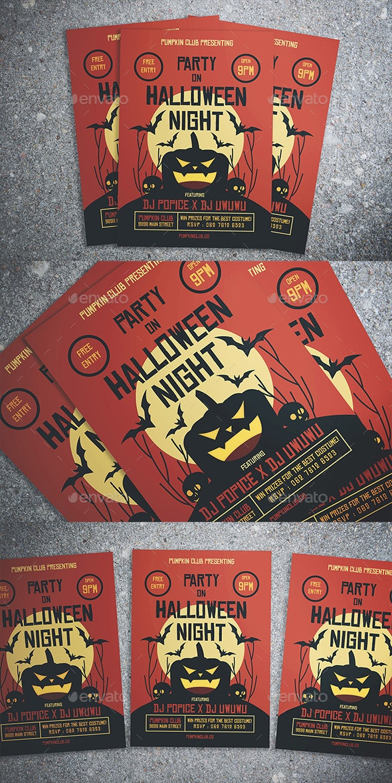 Halloween Party Night Flyer - Flyers Print Templates
