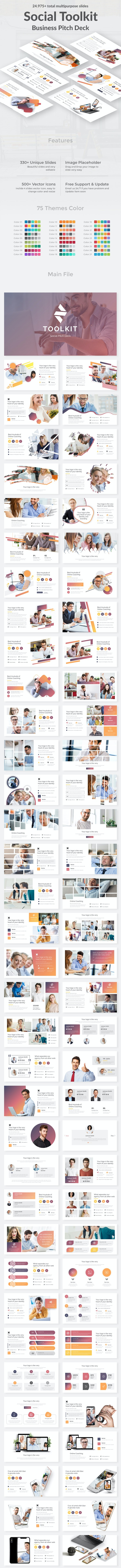 Social Toolkit Pitch Deck Powerpoint Template - Business PowerPoint Templates