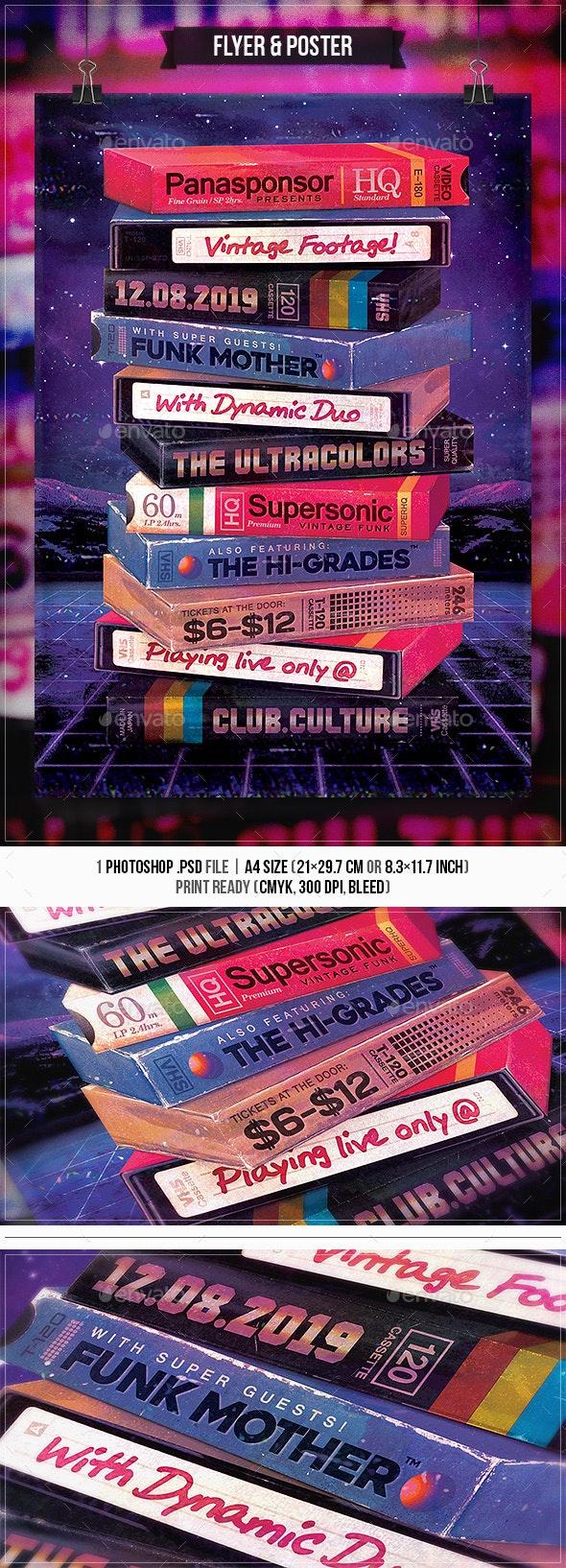 Vintage VHS Vol.2 - Flyer & Poster - Concerts Events