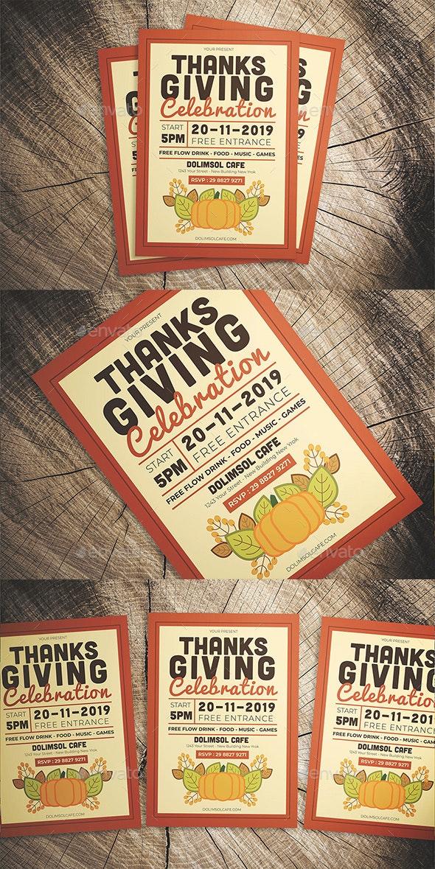 Thanksgiving Celebration Flyer - Flyers Print Templates