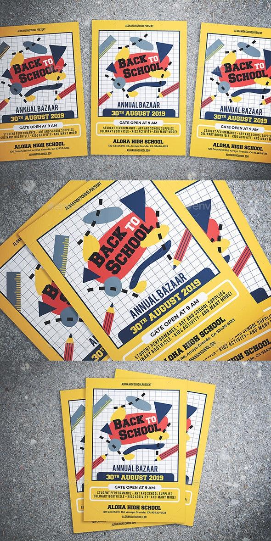 Back To School Bazaar Flyer - Flyers Print Templates