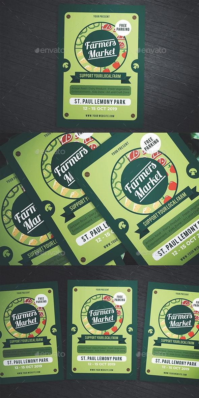 Green Farmers Market Flyer - Flyers Print Templates