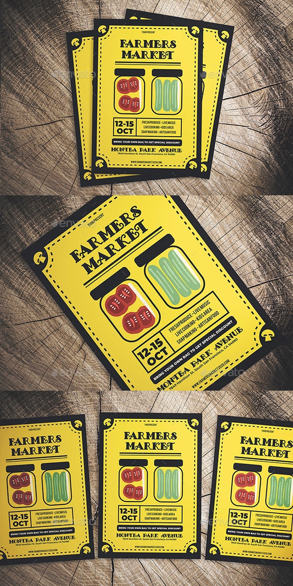 Vintage Farmers Market Flyer - Flyers Print Templates