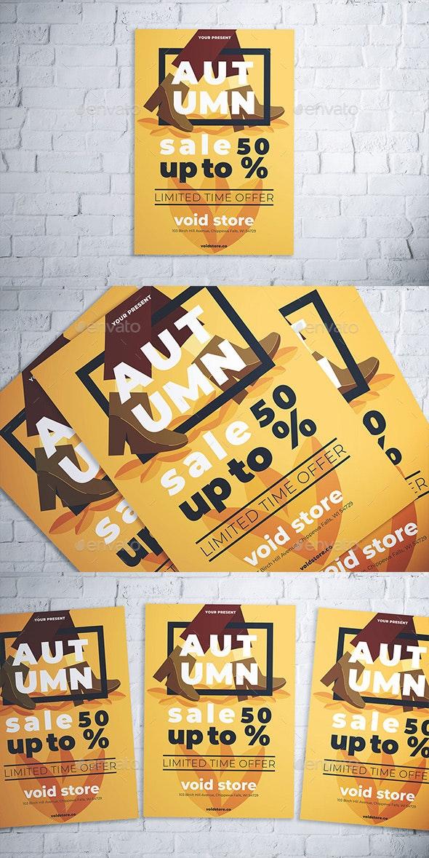 Autumn Fashion Sale Flyer - Flyers Print Templates
