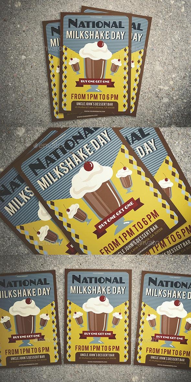 National Milkshake Day Flyer - Flyers Print Templates