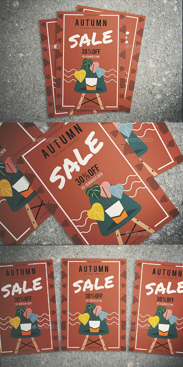 Autumn Furniture Sale Flyer - Flyers Print Templates
