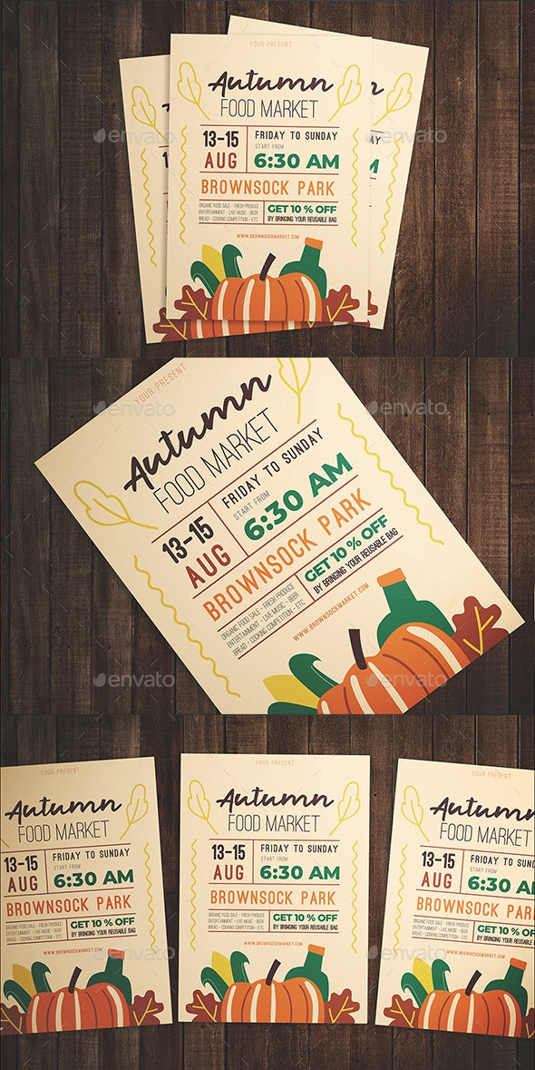 Autumn Food Festival Flyer - Flyers Print Templates