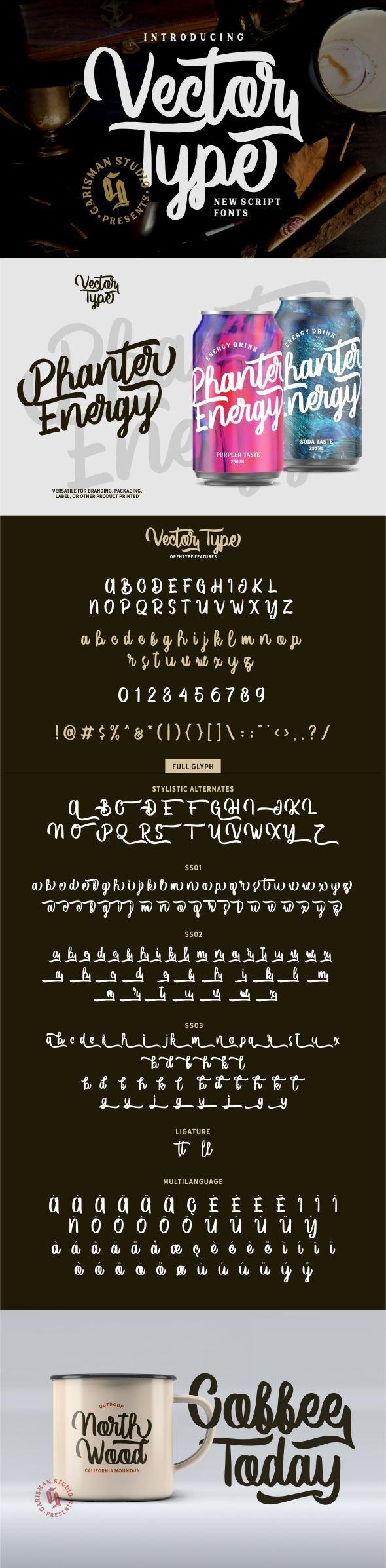 Vector Type - Hand-writing Script