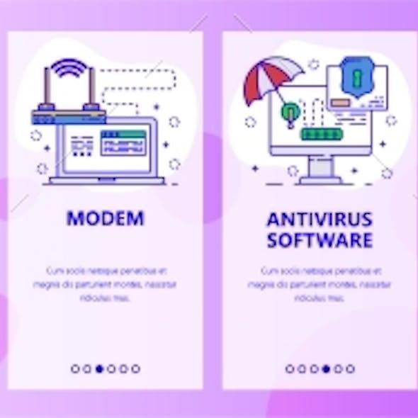 Mobile App Onboarding Screens Computer Hardware
