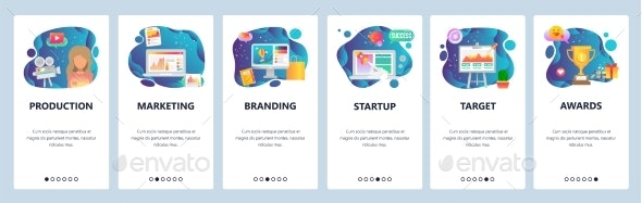 Mobile App Onboarding Screens Marketing and Branding - Concepts Business