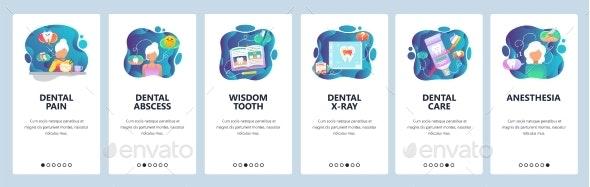 Mobile App Onboarding Screens Dental Clinic - Health/Medicine Conceptual