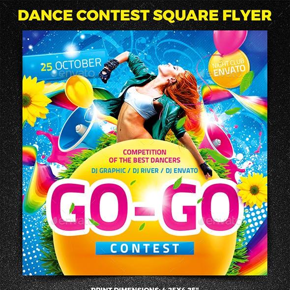 Dance Contest Square Flyer vol.1