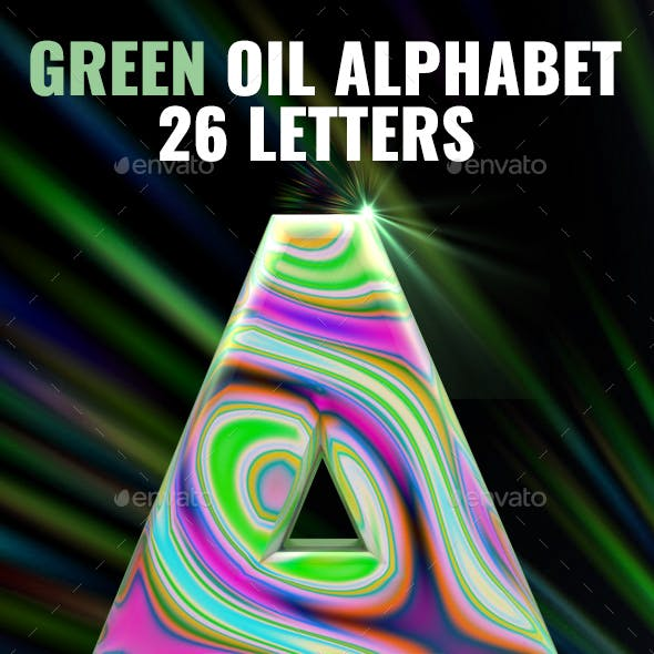 Green Oil Letters