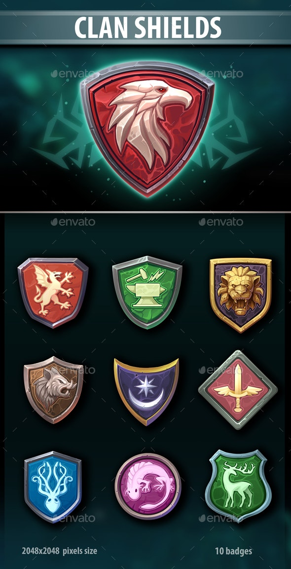 Clan Shields - Miscellaneous Game Assets