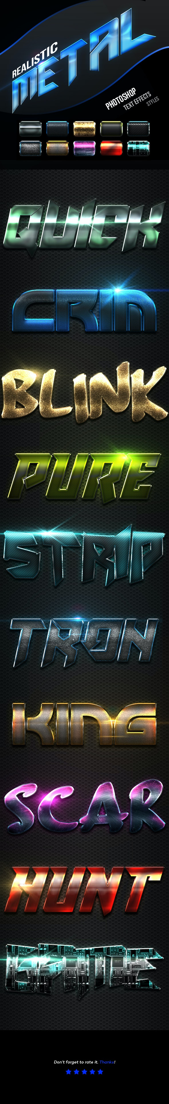 Realistic Metal Text Effects Vol.4 - Text Effects Actions