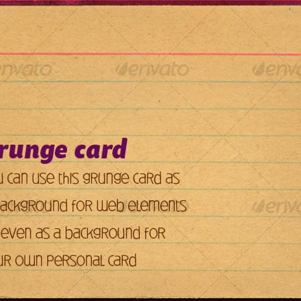 Grunge card