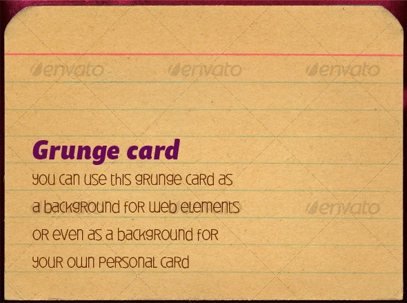 Grunge card - Home & Office Isolated Objects