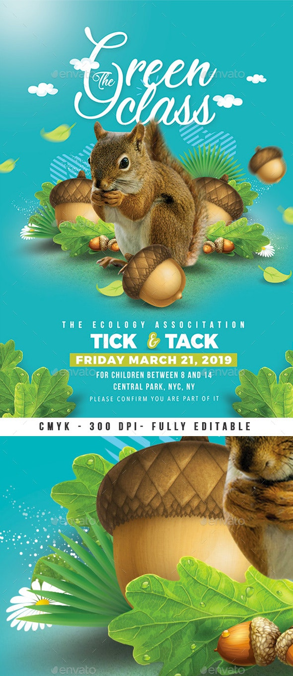 Green Summer Class Flyer - Miscellaneous Events