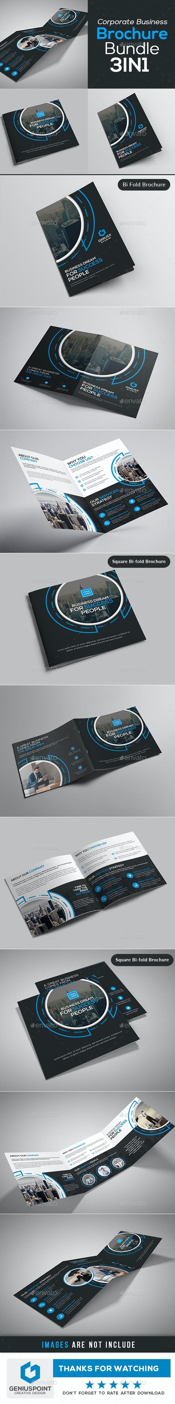 3in1 Corporate Brochure Bundle - Brochures Print Templates