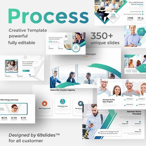 Creative Process Pitch Deck Keynote Template