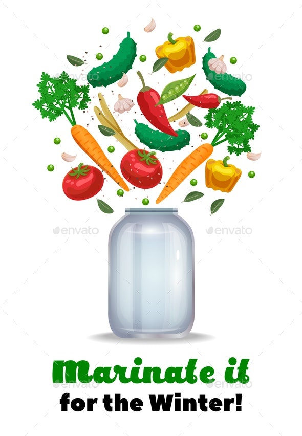 Marinate Vegetables Background Composition - Food Objects