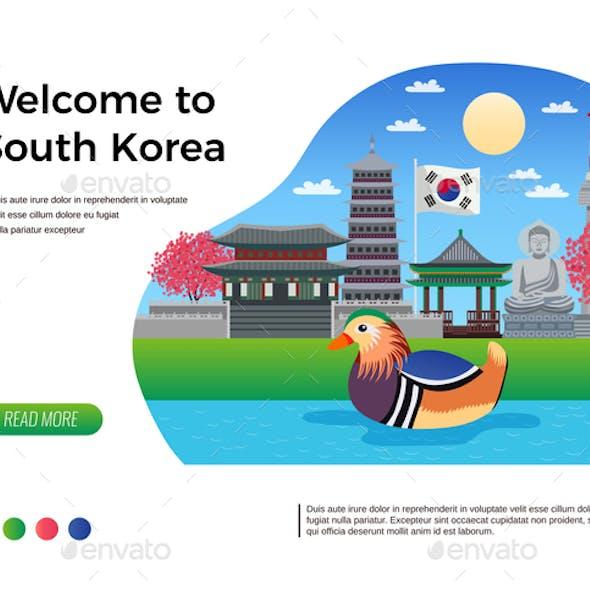 South Korea Welcome Banner
