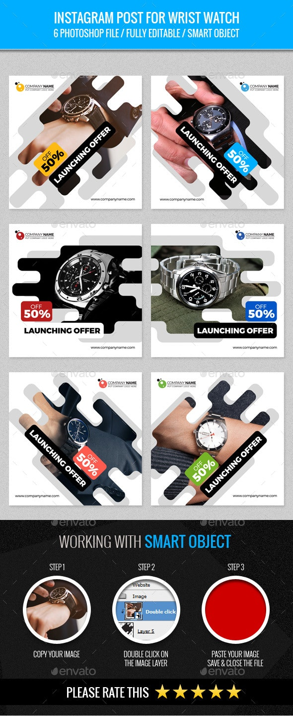 Instagram Post for Wrist Watch - Banners & Ads Web Elements
