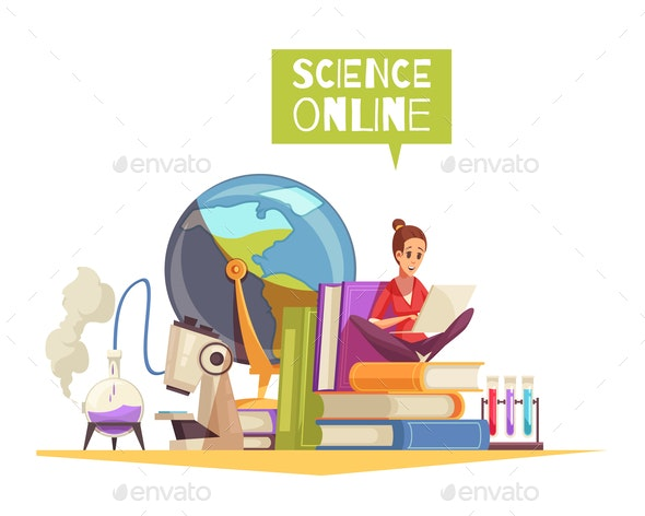 Science Degree Online Composition - Miscellaneous Vectors