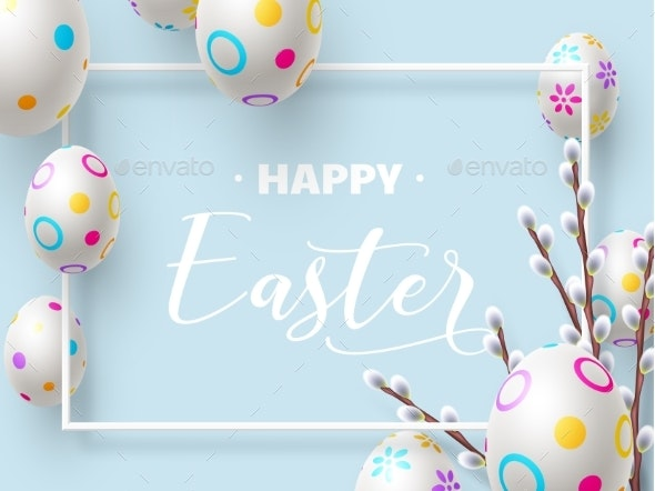 Happy Easter Holiday Composition - Miscellaneous Seasons/Holidays