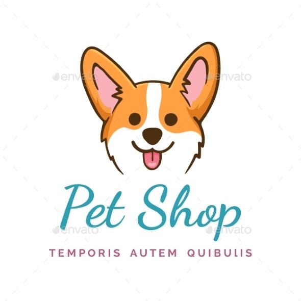 Corgi Dog Emblem - Animals Characters