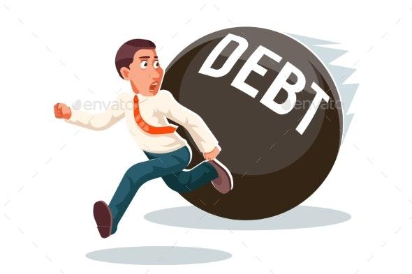 Banking Economic Crisis Run Away Businessman Debt - Concepts Business