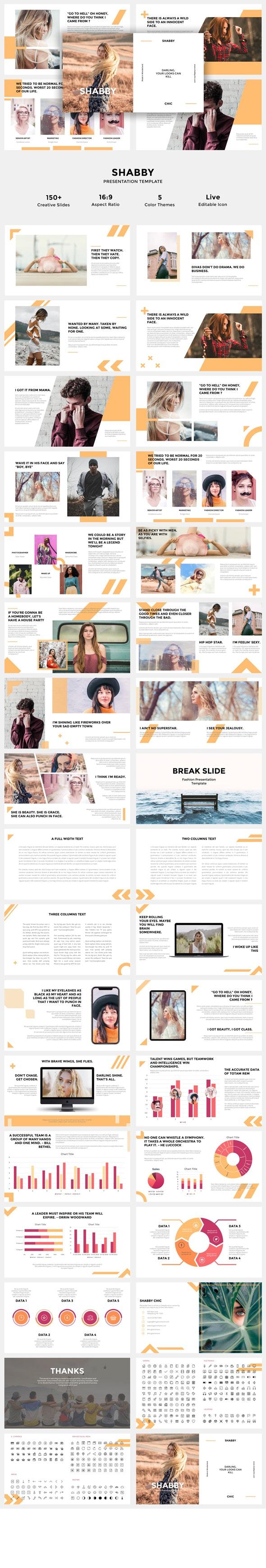 Shabby - Powerpoint Presentation Templates - Creative PowerPoint Templates