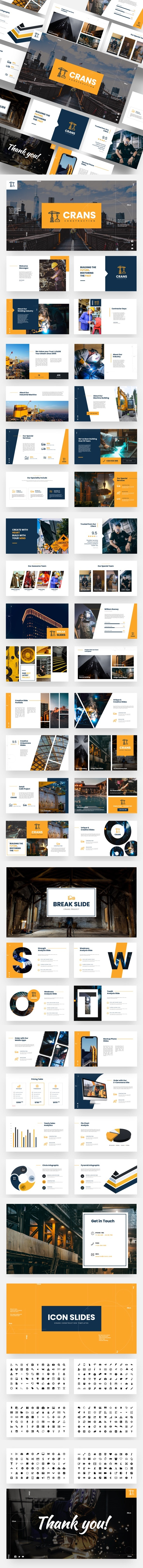 Crans - Construction & Industrial Keynote Template - Business Keynote Templates