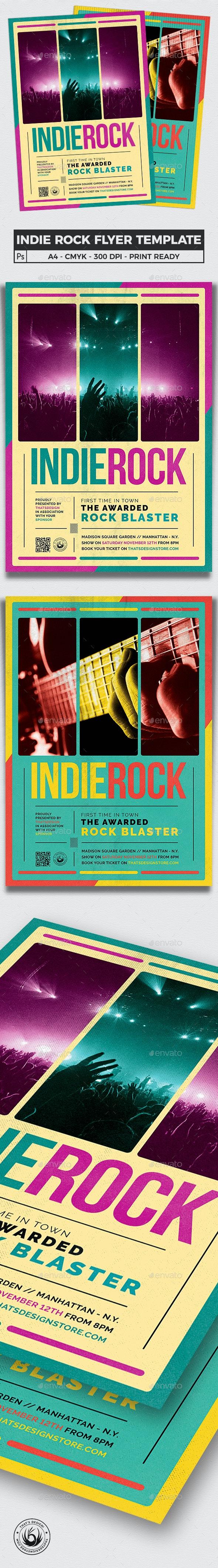 Indie Rock Flyer Template V2 - Concerts Events