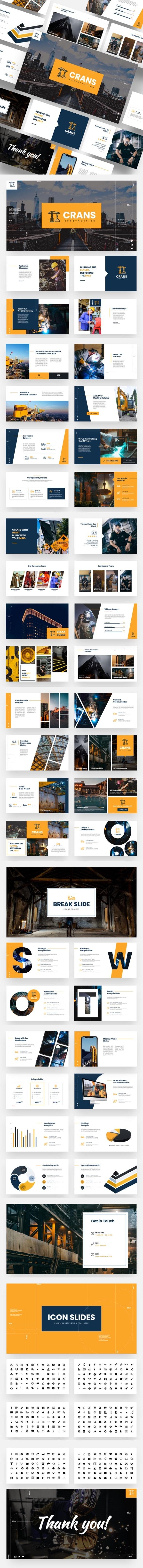 Crans - Construction & Industrial Google Slides Template - Google Slides Presentation Templates