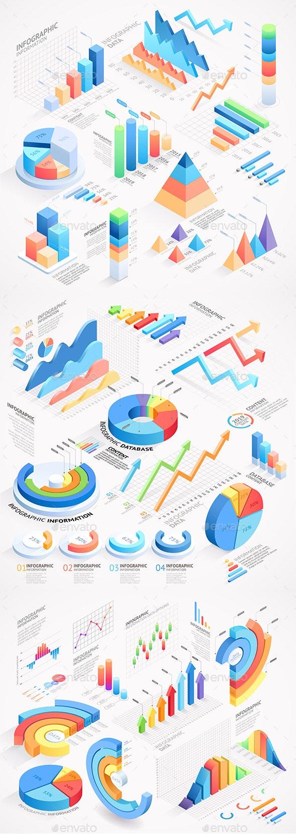 Infographics Isometric Elements - Infographics