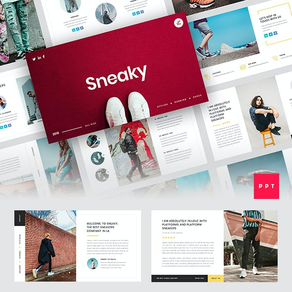 Sneaky - Sneakers PowerPoint Template