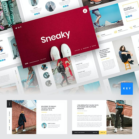Sneaky - Sneakers Keynote Template