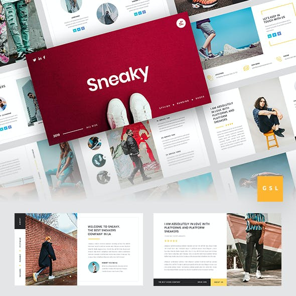 Sneaky - Sneakers Google Slides Template