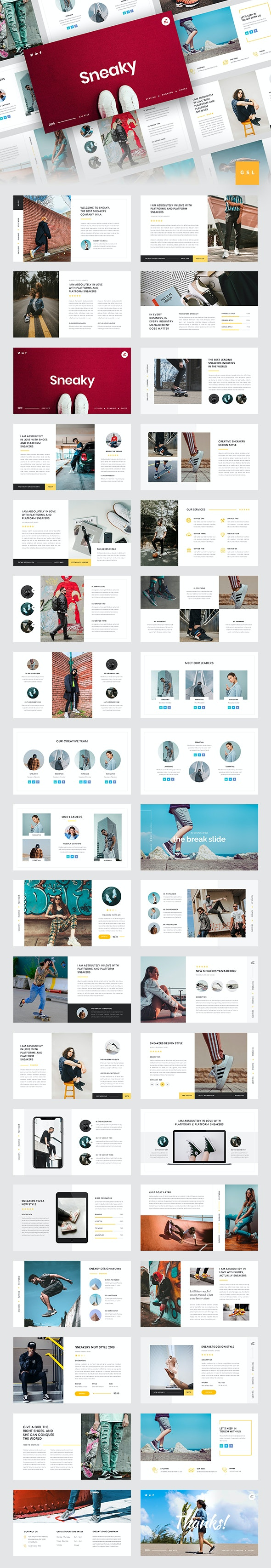 Sneaky - Sneakers Google Slides Template - Google Slides Presentation Templates