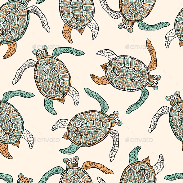 Vector Seamless Pattern - Animals Characters