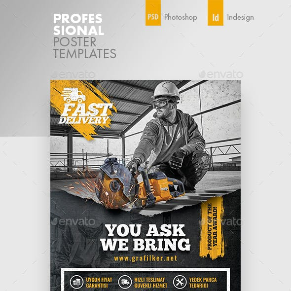 Construction Poster Templates