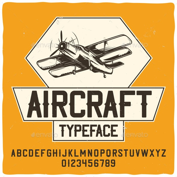 Aircraft and Typography - Miscellaneous Vectors