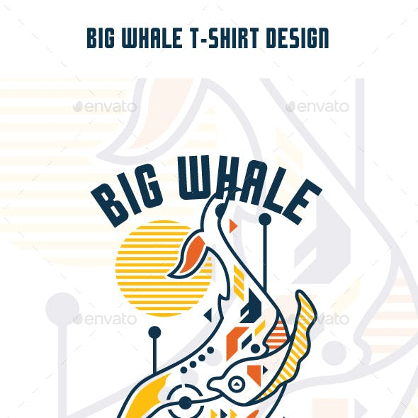 Big Whale T-Shirt Design