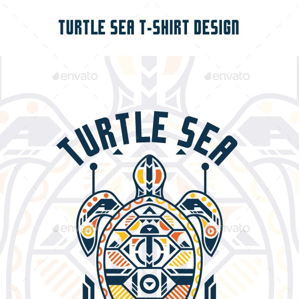 Turtle Sea T-Shirt Design